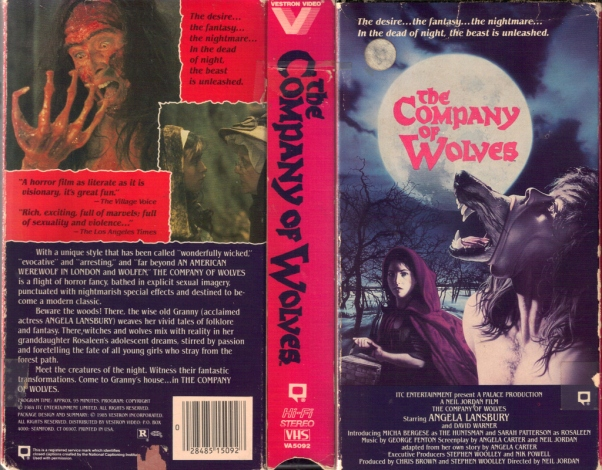 The Company of Wolves 1984 VHS cover
