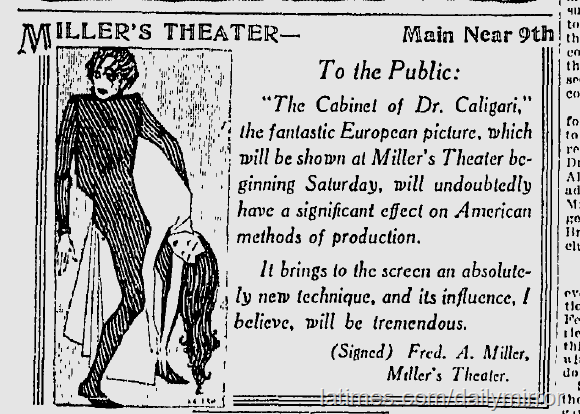 Caligari Millers Theater