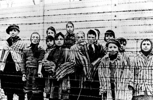 Child Survivors at the Liberation of Auschwitz.