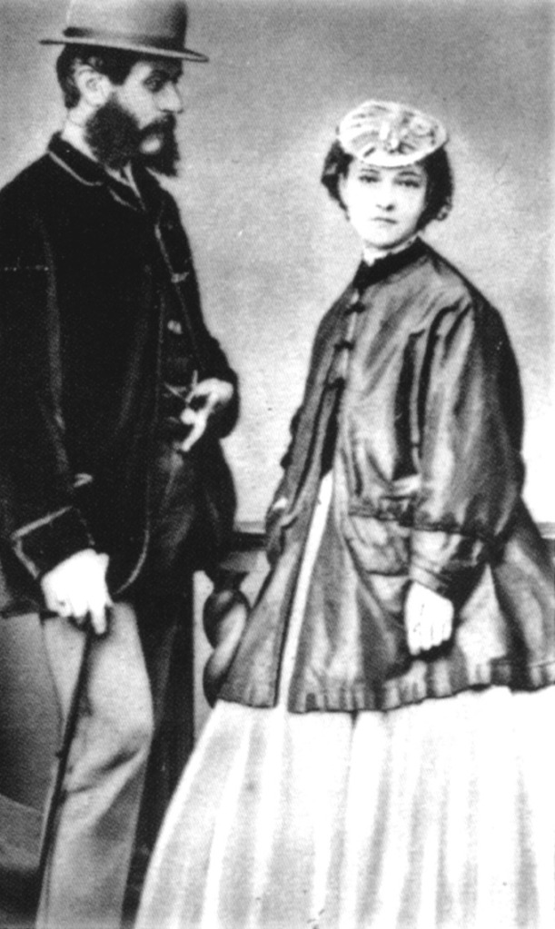 Eugene Chantrelle on wedding day with pregnant Lizzie Dyer