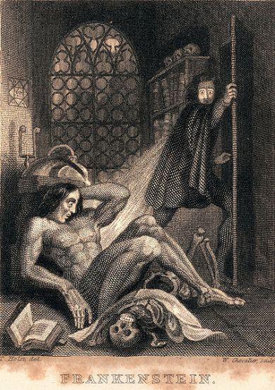 Frankenstein 1818 art